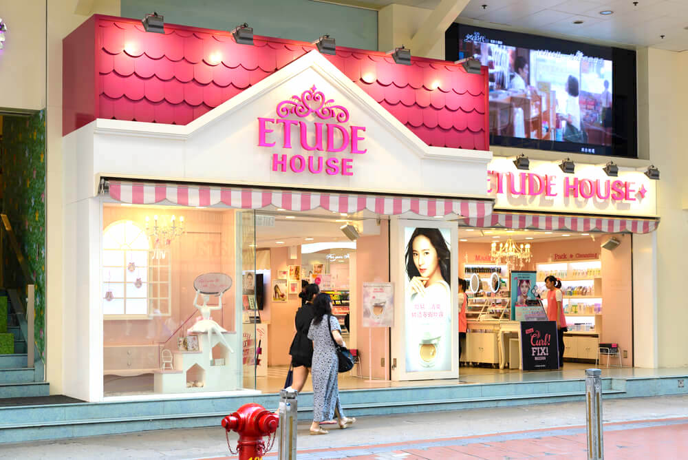 Etude House store in Hong Kong