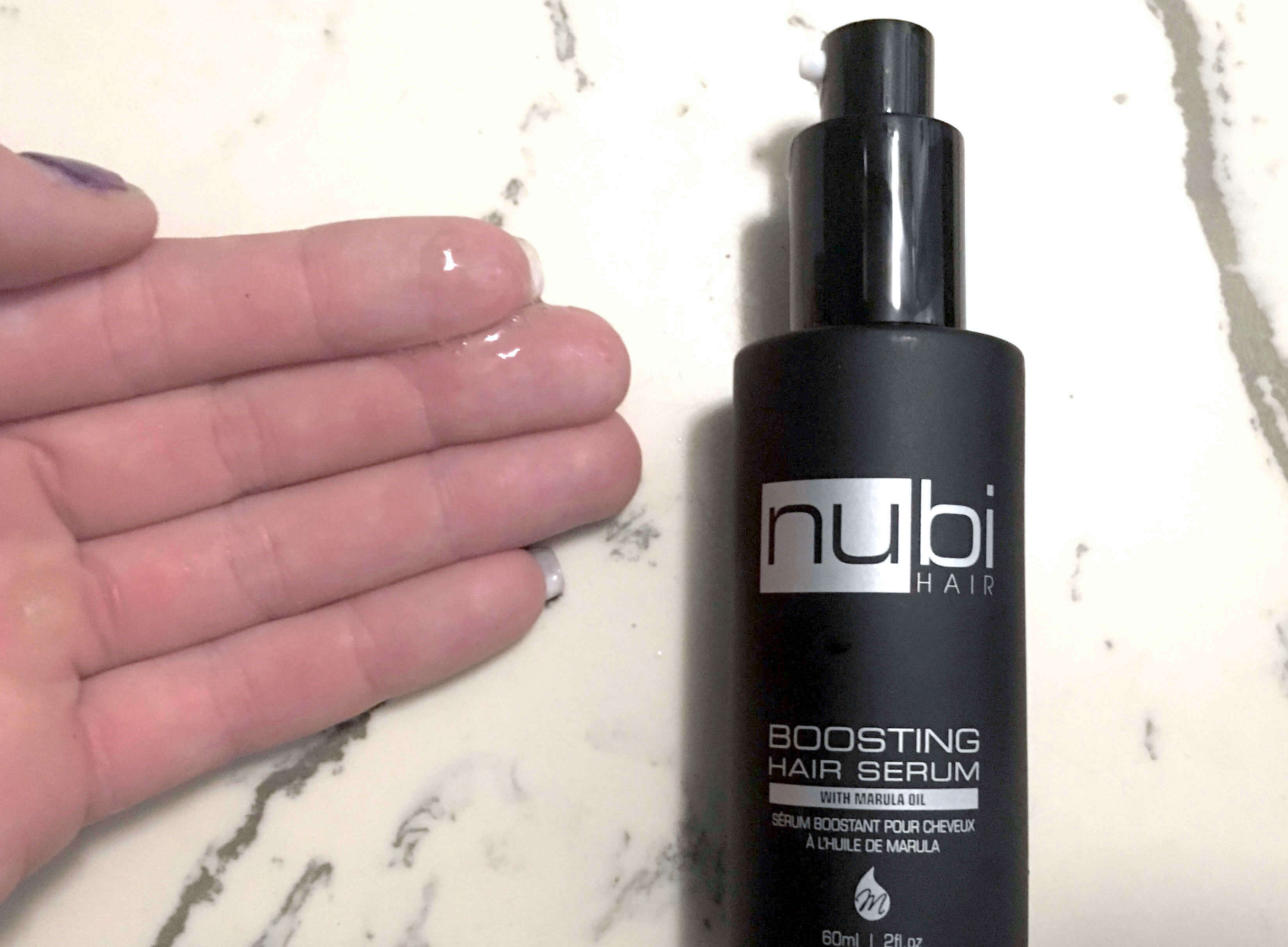 Nubi Boosting Hair Serum with Marula Oil review