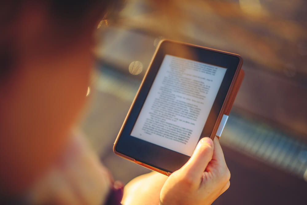 Reading using e-book reader