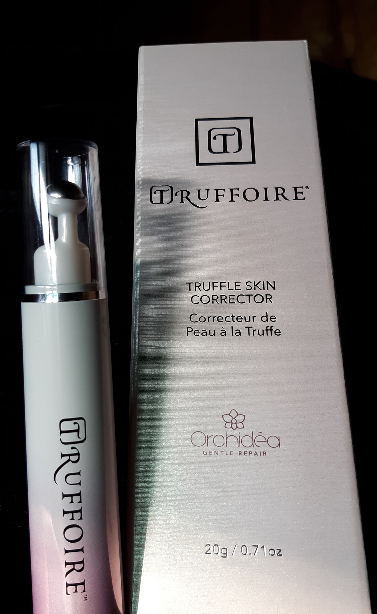 Truffoire Skin Corrector next to box
