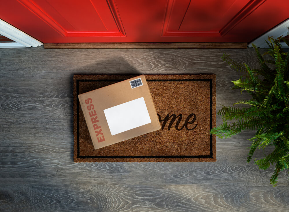 Box at front door