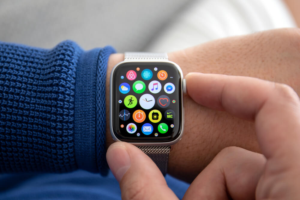 Wrist with Apple watch