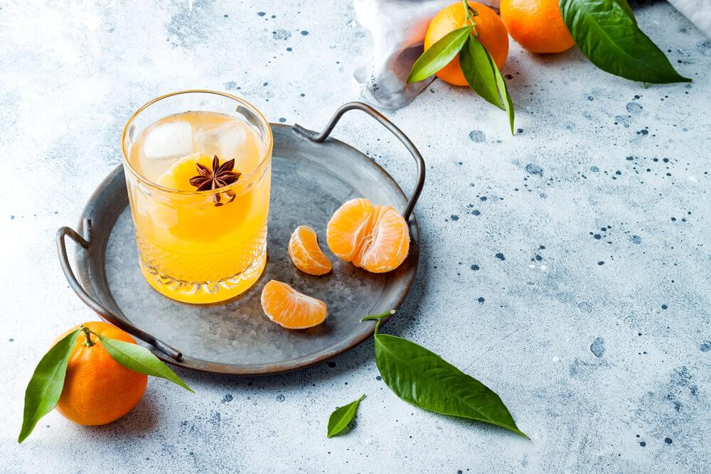 Orange drink in glass